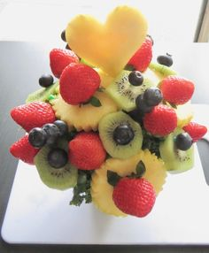 How to make a fruit dessert. Delectable Decorations Fruit Design - Step 4