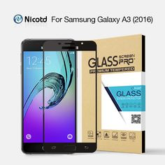 """Nicotd 2.5D  Full Cover Tempered Glass For Samsung A3 2016 Mobile Phone 4.7"""" Anti-Explosion Safety Screen Protector Glass Film  #Affiliate"""