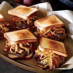 This smoky patty melt features smoked Gouda cheese, hot sauce-spiked onions and sweet homemade barbecue sauce.