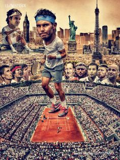 A nice gift for Rafael Nadal! It was created by painter and illustrator Javier Munoz. [2017]