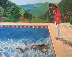 Portrait of a Horseman (Pool with Two Figures), Me, Acrylic on canvas, 2019 Bojack Horseman, Cartoon Crossovers, Animation Series, Show Horses, Movies Showing, Wall Collage, Cute Art, Art Inspo, Sketches