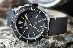 "Alpina Seastrong Diver 300 Automatic Watch - by Bilal Khan - have a look on aBlogtoWatch.com ""Alpina is updating one of their dive watches for Baselworld 2016, and the result looks great in all four styles, which is saying a lot in a crowded field like vintage-inspired dive watches. The Alpina Seastrong Diver 300 Automatic watch forgoes the extreme monicker as well as the triple-date display, looking cleaner and more contemporary..."""