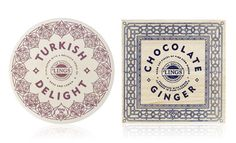 Love the mix of old and new in the packaging for Lings candies.