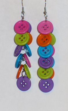 15 OFF Dazzling Colorful Button Earrings use by PrettyWings1, $3.95