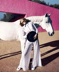 Nadja Bender by Camilla Akrans for Harper's Bazaar US March 2015 | The Fashionography