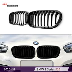 f21 f20 carbon fiber car styling black racing grill for bmw 1 series 2015+ 116d 118i 120d 120i M135i replacement part