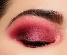 A Bright Pink & Red Look featuring Huda Beauty Ruby Huda Eyeshadow, Blending Eyeshadow, Pink Eyeshadow, Eyeshadow Palette, Eyeshadows, Bright Eye Makeup, Red Makeup, Makeup For Brown Eyes, Makeup Looks