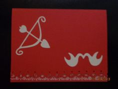 Red Card with Bow & Arrow and Love Birds