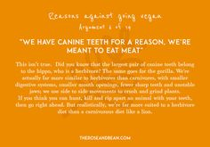 'Arguments Against Veganism' is a series of 14 common arguments given by meat-eaters, with their simple, research-backed counter-arguments. Veganism, Going Vegan, Counter, Meat, Simple