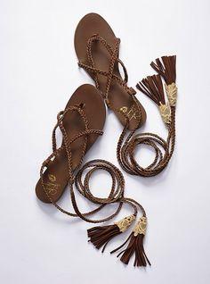 Leather Ankle-wrap Sandal - Colin Stuart® - Victoria's Secret