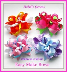 Start your own business selling hair bows online. See how here