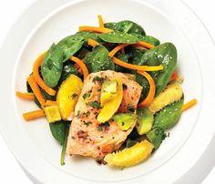 Salmon With Avocado-Orange Salsa: Recipes: Self.com