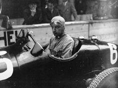 Carlo Felice Trossi – winner of the 1948 Swiss Grand Prix driving an Alfa Romeo.
