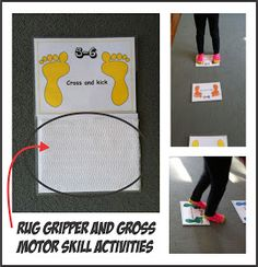 Your Therapy Source - www.YourTherapySource.com: Rug Gripper and Gross Motor Skills