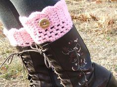 Crochet Boot cuffs. Leg Warmers. Boots.