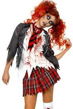 Sexy naughty #adult zombie school girl halloween #cosplay #costume 8866 large,  View more on the LINK: 	http://www.zeppy.io/product/gb/2/141792870030/