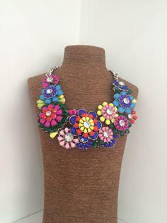 Necklace flowers multicolor