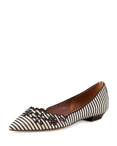 Daisy Chain Striped Flat by Tabitha Simmons at Neiman Marcus.