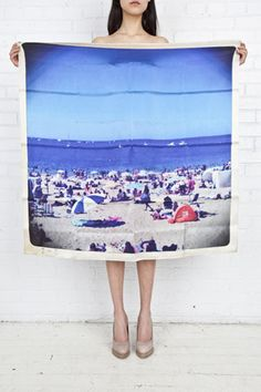 I love Philippe Roucou's polaroid scarves.