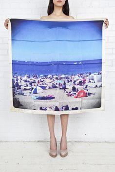 I love Philippe Roucou's polaroid scarves.