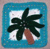 Palm Tree Granny Square / FREE CROCHET pattern