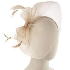 Ivory Elegant Net Bow Fascinator - Hair - Shop ($36) via Polyvore