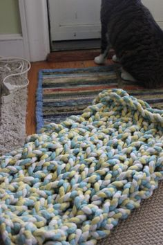 Hand dyed mini mat
