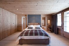Chalet Gstaad, Switzerland . #Aigredoux #bed #linen #home #bespoken #interior #bedroom #home #linen #luxury #chalet