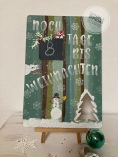 Wie lange dauert es noch bis Weihnachten? Mit diesen Schild habe ich alles im Blick 😅 Countdown, Ladder Decor, Advent Calendar, Holiday Decor, Home Decor, Shop Signs, Christmas, Crafting, Decoration Home