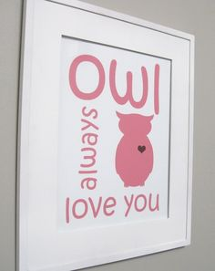 great sign for a nursery with an owl or animal theme.