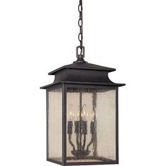 World Imports Sutton Collection 4-light Hanging Outdoor Lantern