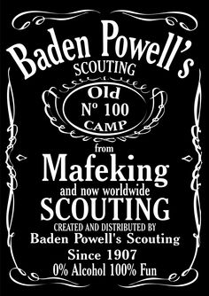 Postcard advertising Jack Daniel's whiskey, sent by a Postcrosser in the Netherlands. Scout Camping, Camping Life, Cub Scouts, Girl Scouts, Baden Powell Scouts, Jack Daniels Logo, Wood Badge, Blood Brothers, Scout Activities