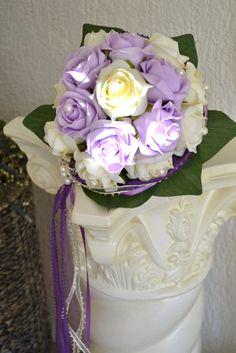 edler Brautstrauß creme-flieder Biedermeier Hochzeit Lilac, Wedding Ideas, Flowers, Dekoration