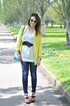 Melissa Cabrini - Choies Blazer, Calvin Klein Blouse, Lui Jo Jeans, Jimmy Choo Shoes, Prada Bag, Miu Sunglasses - Fashion Citrus