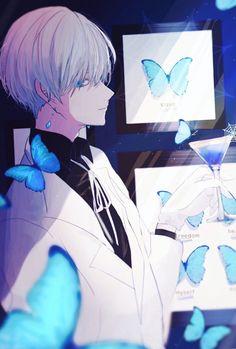 Fashion Illustration Speed Painting with Ink - Drawing On Demand Manga Anime, Manga Boy, Fanarts Anime, Anime Characters, Anime Art, Hot Anime Boy, Cute Anime Guys, Anime Boys, Anime Butterfly
