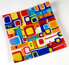 Retro Dish- Margaret Heenan Glass