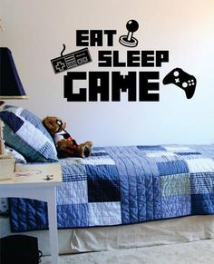 Eat Sleep Game Version 3 Gamer Decal Sticker Wall Vinyl Art Decor - boop decals - vinyl decal - vinyl sticker - decals - stickers - wall decal - vinyl stickers - vinyl decals