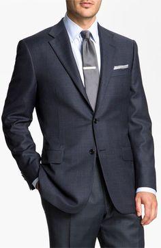 Hickey Freeman Windowpane Suit
