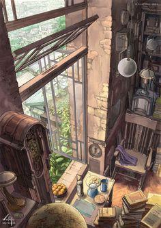 Background illustration s Environment Concept Art, Environment Design, Art Graphique, Fantasy Landscape, Anime Scenery, Aesthetic Art, Cool Art, Art Drawings, Drawing Faces