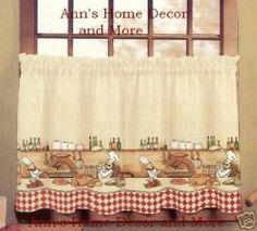 Kitchen fat chef curtains