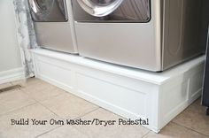 washer and Dryer pedistal.... so much nicer than those drawers that are 200 each