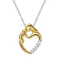 Meaningful Moments Sterling Silver 18K Gold Plated Necklace.  Or a great gift for a daughter :)