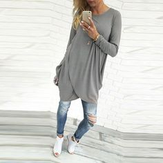 Check out one of our new  West Coast Long S..., Just in and ready to order @ http://scooterbug-designs.myshopify.com/products/west-coast-long-sleeve-loose-long-maternity-top-or-dress?utm_campaign=social_autopilot&utm_source=pin&utm_medium=pin