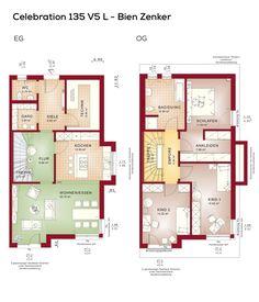 Grundriss Doppelhaushälfte Mit Pultdach Architektur Erker Anbau 4 Zimmer 134 Qm Wfl Erdgeschoss Modern Küche Offen Als Wohnküche