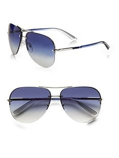 Prada - Rimless Aviator Sunglasses