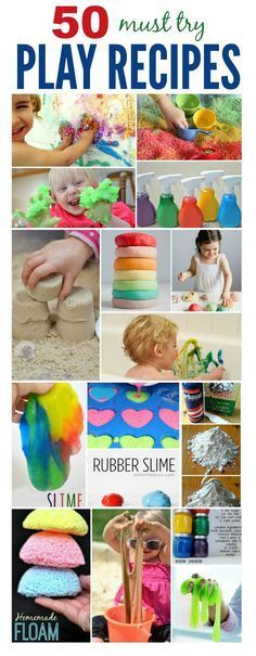 50 AMAZING play recipes for kids - So many fun ideas including a few I hadn't seen before.