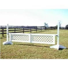 lattice horse jump inspiration for driveway barrier