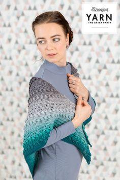 Crochet shawl pattern, Whirl by Scheepjes (photo by Scheepjes) | Happy in Red