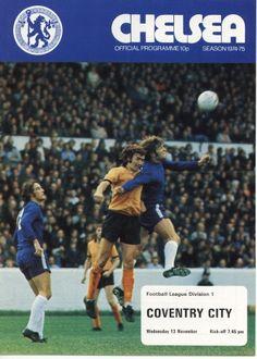 13 November 1974 v Chelsea Drew 3-3