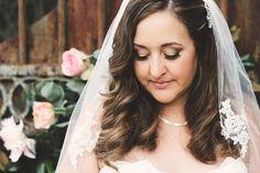 Natural, warm-toned wedding day makeup {Brit Jaye Photography}